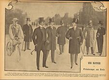 une matinee printemps au bois (fashion) print  from  le rire dated 1900