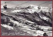 VERCELLI SCOPELLO 54 MERA VALSESIA SEGGIOVIA NEVE SCI Cartolina FOTOGRAFICA 1963