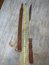 Authentic (Htf ) Vintage Montagnards Sword & Wooden Sheath