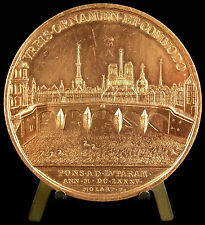 Médaille EE/400 Louis XIV construction du Pont-Royal 1685 Molart restrike medal