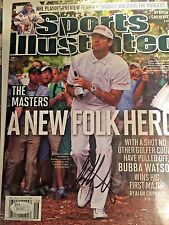 BUBBA WATSON SIGNED AUTOGRAPH SPORTS ILLUSTRATED JSA