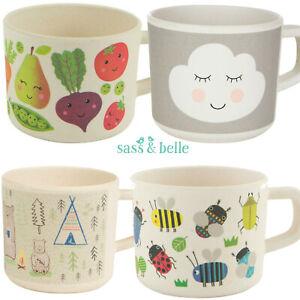 Sass & Belle Eco Friendly Bamboo Kids Boys Girls Mug Cup Plate Bowl Spoon Fork