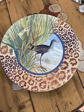 Gien Savane Plate 8 3/4 in. Luncheon/Dessert Dl Garanti Lave-Vaisselle Bird
