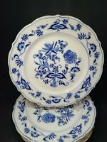 """Blue Danube Blue Onion Luncheon Salad 8.5"""" Plate Rectangle Backstamp"""