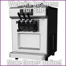 Ice Cream Machine site gagner £ 124 A vente | libre Domaine | Free hébergement | libre trafic