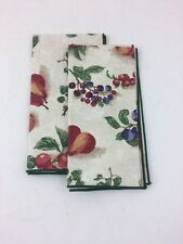 Longaberger Napkins Set of 2 Fruit Medley Napkin