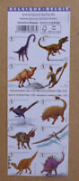 2015 BELGIUM DINOSAURS STAMP BOOKLET OF 10