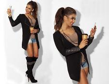 Damen Langarm Mantel 3 Farben Blazer Herbst Cardigans Mode Top Jacken Gr.34-44
