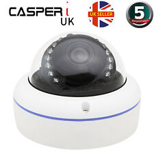 5MP CCTV Camera 1920p Ultra HD Resolution IR Dome 3.6mm Wide angle Lens UK specs
