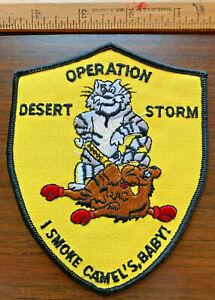 Operation Desert Storm Yellow I Smoke Camel's Baby! Persian Gulf War 1991 Patch