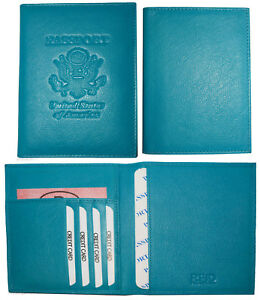 RFID passport case, Genuine leather passport cover U.S. leather passport holder