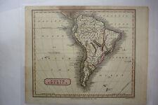 1816 Hand Tinted Map SOUTH AMERICA *Engraved W. Milton*Amazonia*Terra Firma