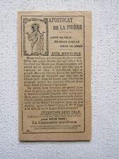 FEUILLET : APOSTOLAT de LA PRIÈRE, 1909