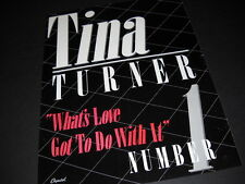 TINA TURNER What's Love Got To Do... is NUMBER ONE 1984 PROMO DISPLAY AD mint
