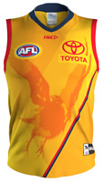 Adelaide Crows 2020 Training Guernsey Mens Large - 5XL Gold/Red/Navy AFL ISC New