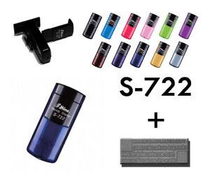 Timbro Personalizzato Shiny S 722, 38X14 mm, portatile, tascabile