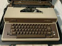 Vintage 1980s Royal Academy Portable Electric Typewriter With Case works great!!
