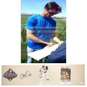 Cole Hamels Philadelphia Phillies Signed Baseball Pitching Rubber Proof JSA Cert