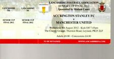 Accrington Stanley v Manchester United 8.8.2012 Used Ticket Senior Cup Final