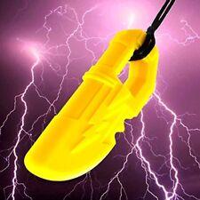 Quell-O Thunder Blade Sensory Lightning Necklace Yellow JUMBO Chewelry Chewers