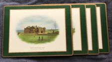 Pimpernel Famous Golf Clubs Placemats Set of 4 Cork Backing  England Acrylic