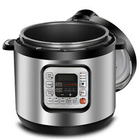 6 Qt Family Electric Pressure Cooker 11 Presets Powerful 1000W Easy Fast Cook
