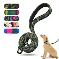 4ft Nylon Dog Leads Clip Rope Soft Padded Pet Walking Leash for Small Large Dogs