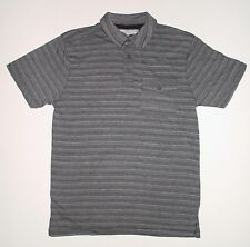 PD&C PAPER DENIM CLOTH POLO SHIRT BLACK GRAY M MEDIUM MENS
