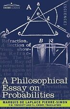 A Philosophical Essay on Probabilities by Pierre Marquis de Laplace (2007,...