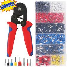 1300PCS Bootlace Crimping Tool Ferrule Crimper Kit Cord End Ratchet 0.25-10mm²