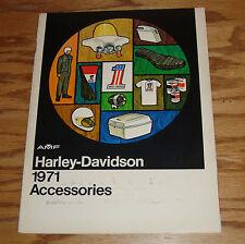Original 1971 Harley Davidson Motorcycle Accessories Sales Brochure 71