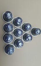 LEER:10 selten Nespresso Kapseln~Kazaar~Metallic Blau~Dunkelblau~Schmuck~Basteln
