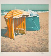 DUBIGEON Loic - Lithographie originale signée- Tentes à Deauville