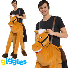 Panto Horse Piggy Back Ride On Me Mascot Mens Fancy Dress Carry Costume Stag Do