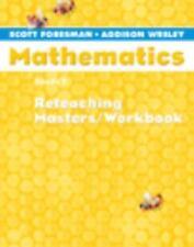 SCOTT FORESMAN ADDISON WESLEY MATH 2005 RETEACHING MASTERS WORKBOOK     GRADE 1