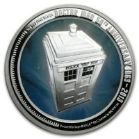 Niue - 2013 - 1 OZ Silver Proof Coin- Tardis Doctor Who 50th Anniversary !!!Rare