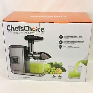Chef's Choice Horizontal Slow Masticating Juicer Silver Digital Quiet