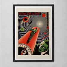 Vintage Soviet Sci-Fi Art Print - Vintage B-Movie Poster - Cult Movie Poster