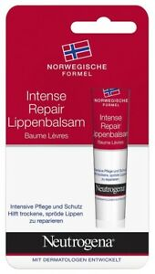 Pack of 1 to 6 Neutrogena Intense Repair Lip Balm For Dry Cracked Lips 15ml