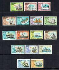 1972/1973 CHRISTMAS ISLAND SHIPS DEFINITIVES SET (16). MNH.