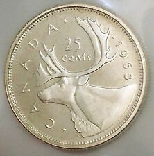 1963 Canada Silver 25 Cents UNCIRCULATED Coin With CAMEO! WOW! #coinsofcanada