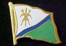 Lesotho National Flag White Blue Green 1987-06 Pin Tac Collectible Souvenir
