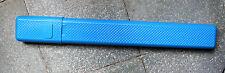 boite à aiguille à tricoter en plastique bleu (vintage)