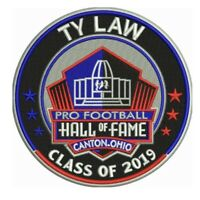 TY LAW 2019 NFL HALL OF FAME PATCH HOF FOOTBALL PATRIOTS JETS CHIEFS BRONCOS