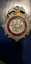 Vintage Obsolete  NYC Fire Department Lieutenant badge 1940s