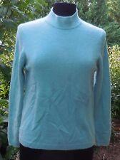 Womens Charter Club Petite 100% Cashmere Mockneck Sweater Sz PM M Mint Green