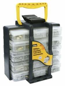 Rolson Assortment Tote Box Organiser Nail Screw Nut Bolt Plug DIY 1000pc