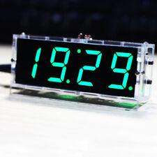 Digital LED Alarm Clock Light Control Temperature Date Desktop DIY Kit W1H0