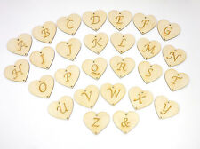 Holzherz mit Buchstaben graviert, Brautpaar 8cm Geschenk Hochzeit Geburtstag EHS