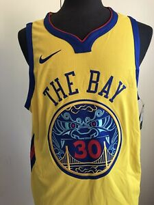 NIKE Authentic WARRIORS Jersey Size 52  Chinese New Year PROSPERITY #30 CURRY